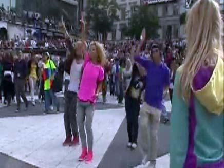 ריקוד המוני (צילום: חדשות 2)