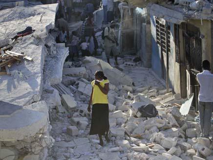 רעידת אדמה בהאיטי (צילום: AP)