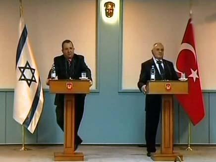 אהוד ברק בטורקיה (צילום: חדשות 2)