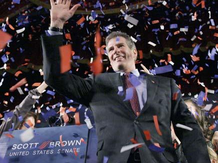 סנאטור סקוט בראון הרפובליקני (צילום: AP)