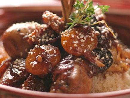 טאג'ין עוף מתוק (צילום: מסעדת גספאצ'יו)