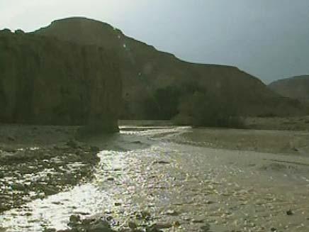 שיטפונות בנחלים (צילום: חדשות 2)