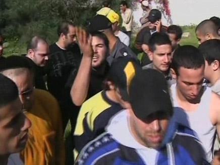 הפגנה לשחרור גומא אגאייר (צילום: חדשות 2)
