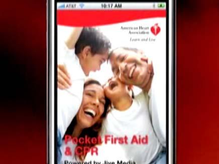 אפליקציית עזרה ראשונה לאייפון (צילום: CNN)