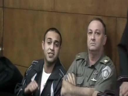 אנס בבית המשפט (צילום: חדשות 2)