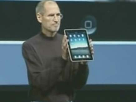 סטיב ג'ובס חושף את ה I-pad (צילום: חדשות 2)