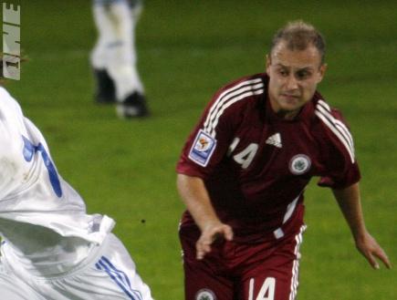 פרפלוטקינס במדי נבחרת לטביה (רויטרס) (צילום: מערכת ONE)