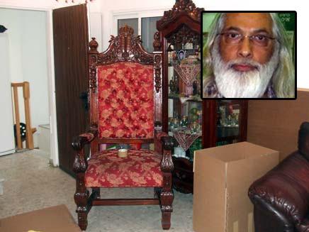 כסאו של גואל רצון (צילום: הסיירת הירוקה של עיריית תל אביב)