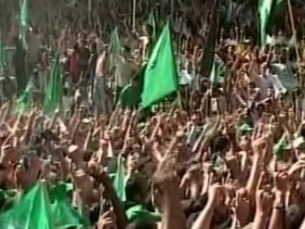 עצרת חמאס בעזה, ארכיון (צילום: חדשות 2)