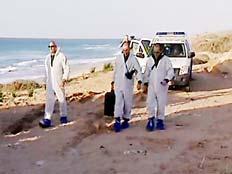 כוחות משטרה בחוף הים. צילום ארכיון