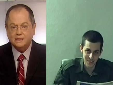אמנון אברמוביץ וגלעד שליט (צילום: חדשות 2)