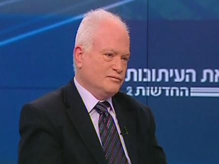 עמוס גלעד בפגוש את העיתונות (צילום: חדשות 2)
