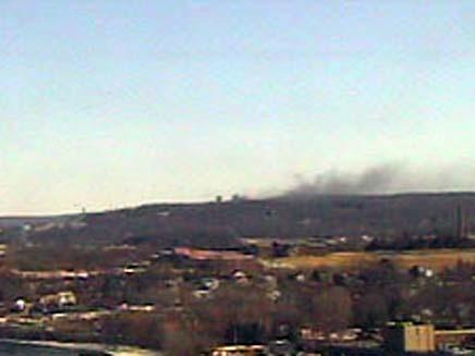 פיצוץ בתחנת כח בקונטיקט (צילום: CNN)