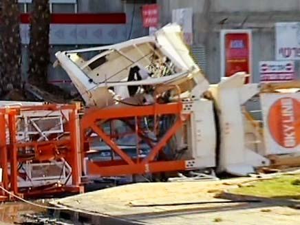 עגורן (צילום: חדשות 2)