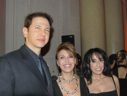 מסיבה רונית רפאל רונית רפאל, רונן ברגמן וריטה (צילום: יאן מור)