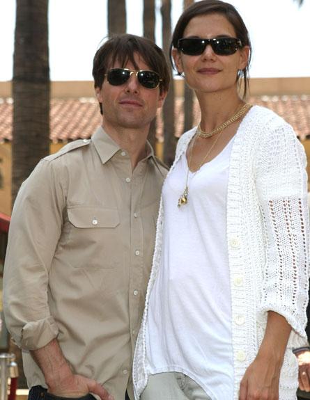 טום קרוז וקייטי הולמס - משקפי שמש (צילום: Kristian Dowling, GettyImages IL)