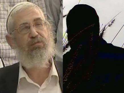 הרב מוטי אלון ואחד מתלמידיו (צילום: חדשות 2)