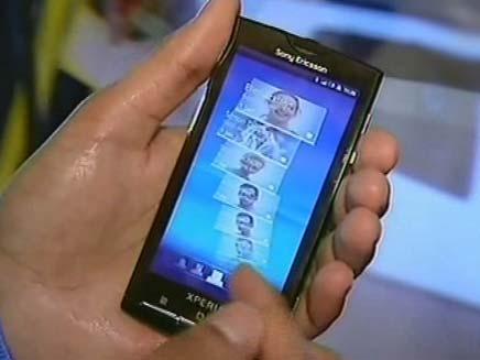 מכשיר סמסונג בתערוכת המובייל בברצלונה (צילום: חדשות 2)