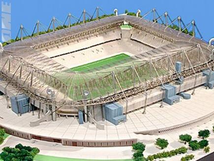 """האצטדיון הכדורגל העתידי של ב""""ש. יש למה לחכות (צילום: מערכת ONE)"""
