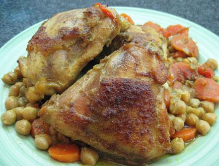צלי עוף וגרגרי חומוס (צילום: אוכל מכל הלב)