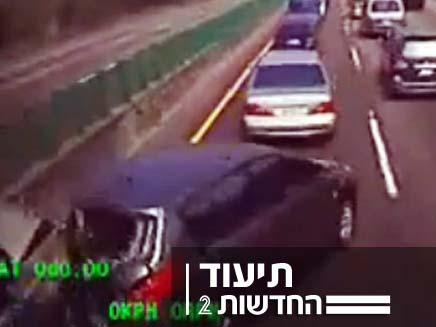 תיעוד תאונת דרכים (צילום: הסאן)