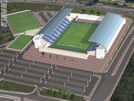 """האצטדיון החדש בפ""""ת. הבית החדש של מכבי? (צילום: מערכת ONE)"""