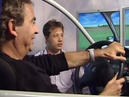 סימולטור נהיגה (צילום: חדשות 2)