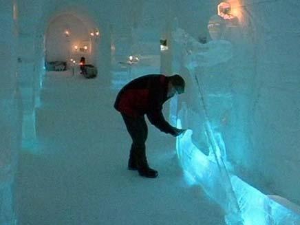 מלון בקרח (צילום: חדשות 2)