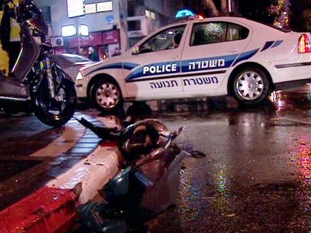 """נדרסה ע""""י אופנוע ונפצעה אנוש. ארכיון (צילום: חדשות 2)"""