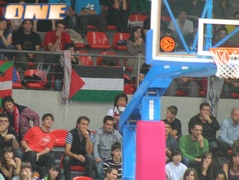 דגל פלסטין במשחק של מכבי ת&