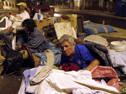 נפגעי רעידת אדמה בצ'ילה (צילום: AP)