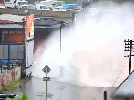 רכבת חוצה שיטפון בבואנוס איירס (צילום: YouTube)
