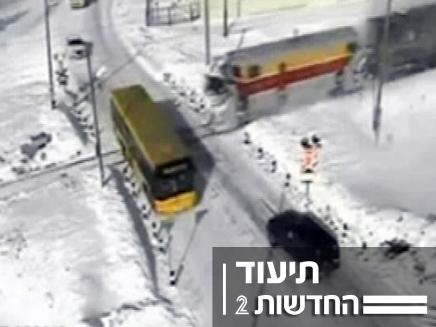 תאונת רכבת (צילום: חדשות 2)