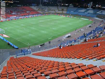 אצטדיון רמת גן. יאכלס את האדומים (עמית מצפה) (צילום: מערכת ONE)