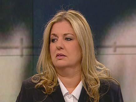 """פרקליטת הנאנסת באולפ""""ש (צילום: חדשות 2)"""