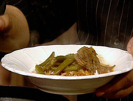 תבשיל בשר עם שעועית ירוקה