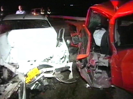 תאונת דרכים בצומת נבטים (צילום: חדשות 2)