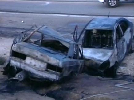 תאונת דרכים קשה בצומת הנגב (צילום: חדשות 2)