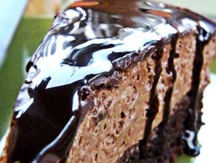 עוגת שוקולד עם מוס נוטלה (צילום: דליה מאיר, קסמים מתוקים)