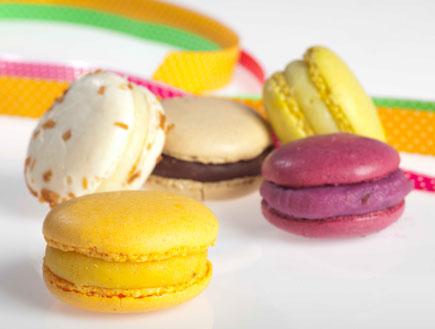עוגיות מקרונס במגוון צבעים וטעמים (צילום: רונן מנגן, רולדין)