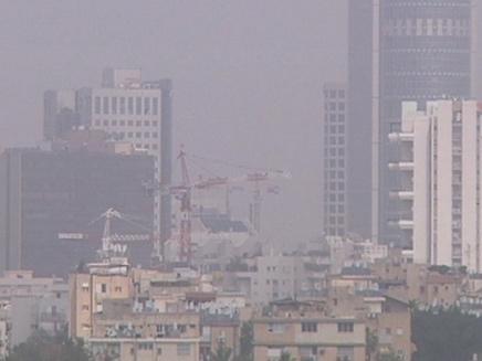 זיהום אוויר כבד ברחבי הארץ (צילום: חדשות 2)
