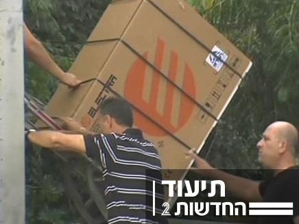 גונבי מזגנים (צילום: חדשות 2)