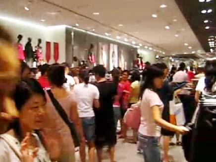 H&M שנחאי (צילום: חדשות 2)