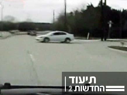 תאונת דרכים בטקסס (צילום: Sky News)