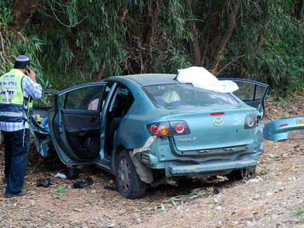 2 הרוגים בתאונת דרכים בברור חיל (צילום: חדשות 2)