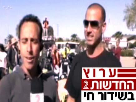 סער שיינפיין במאבק האופנוענים (צילום: חדשות 2)