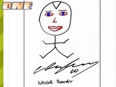 וויין רוני - היחיד שהוסיף צבע לציור, גם שפתיים (צילום: מערכת ONE)