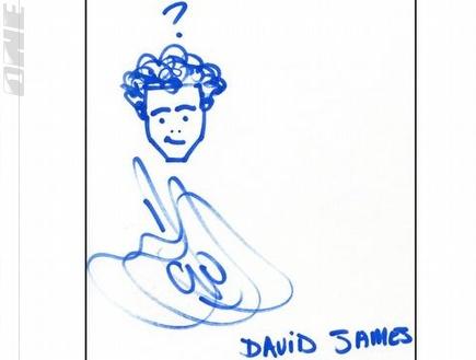 השוער של גרנט\ דיוויד ג´יימס, עם סימן שאלה מעל הראש ומבט מבולבל  (צילום: מערכת ONE)