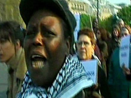 הפגנות שנאה בפריז (צילום: חדשות 2)