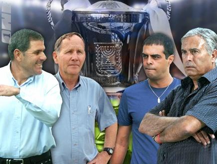 מזרחי, לוזון, קוליק וגוטמן רוצים גביע (צילום: מערכת ONE)